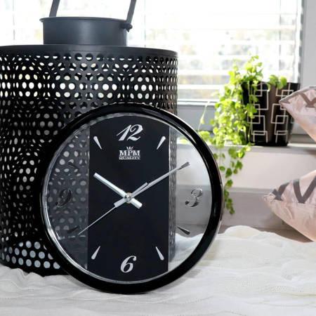 Ażurowy zegar ścienny MPM E01.2429.90 25,5 cm