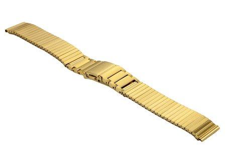 Bransoleta rozciągana do zegarka 16 mm Bisset BM-106/16 Gold