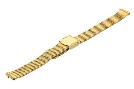 Bransoleta stalowa do zegarka 12 mm Bisset BM-101.12 Gold Mat