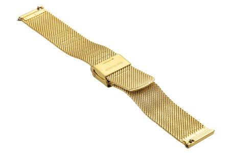 Bransoleta stalowa do zegarka 14 mm Bisset BM-103/14 Gold