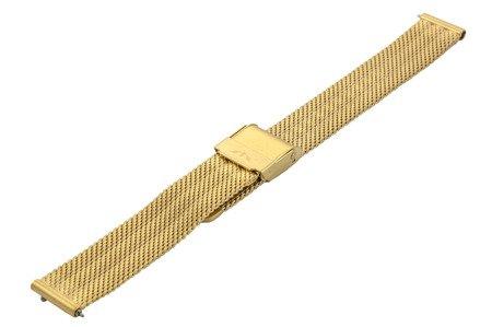 Bransoleta stalowa do zegarka 14 mm Bisset BM-103/14 Gold Mat