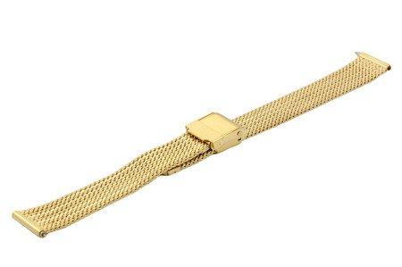 Bransoleta stalowa do zegarka 14 mm Bisset BM-104/14 Gold Mat