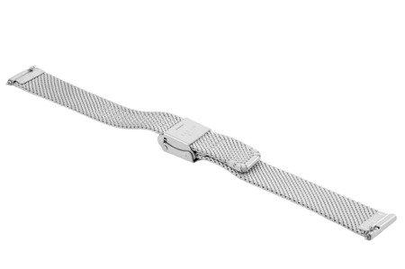 Bransoleta stalowa do zegarka 14 mm Bisset BM-104/14 Silver Mat