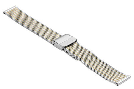 Bransoleta stalowa do zegarka 14 mm Bisset BM-105/14 TT Gold