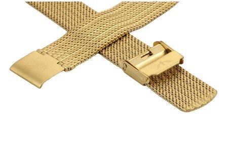 Bransoleta stalowa do zegarka 16 mm Bisset BM-105/16 Gold Mat