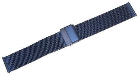 Bransoleta stalowa do zegarka 18 mm Bisset BM-101/18 Blue