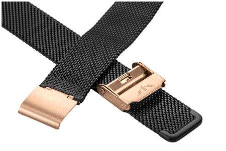 Bransoleta stalowa do zegarka 18 mm Bisset BM-101/18 TT Black