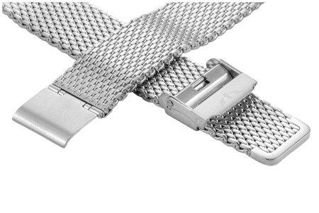 Bransoleta stalowa do zegarka 18 mm Bisset BM-102/18 Silver