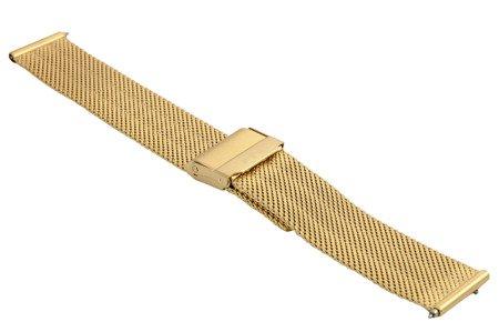 Bransoleta stalowa do zegarka 18 mm Bisset BM-103/18 Gold Mat
