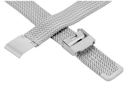 Bransoleta stalowa do zegarka 18 mm Bisset BM-104/18 Silver Mat