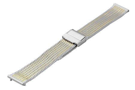Bransoleta stalowa do zegarka 18 mm Bisset BM-104/18 TT Gold