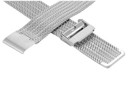 Bransoleta stalowa do zegarka 18 mm Bisset BM-105/18 Silver