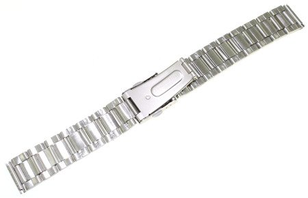 Bransoleta stalowa do zegarka 18 mm Bisset BR18.02 Silver