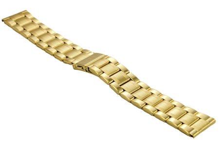 Bransoleta stalowa do zegarka 20 mm BR-109.20 Gold