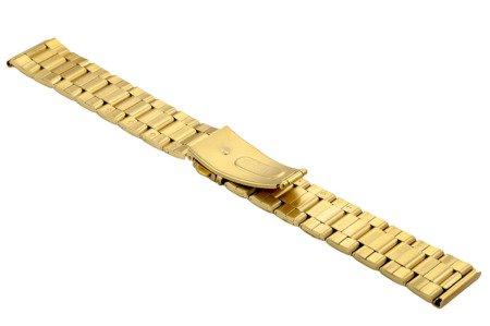 Bransoleta stalowa do zegarka 20 mm BR-119/20 Gold