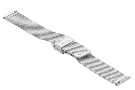 Bransoleta stalowa do zegarka 20 mm Bisset BM-101/20 Silver