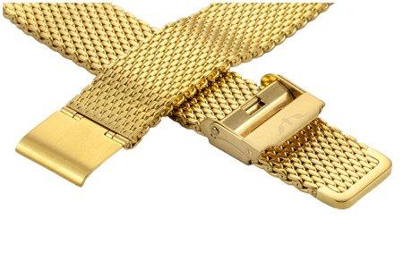 Bransoleta stalowa do zegarka 20 mm Bisset BM-102/20 Gold