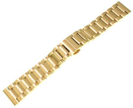 Bransoleta stalowa do zegarka 20 mm Tekla B3.20 Gold