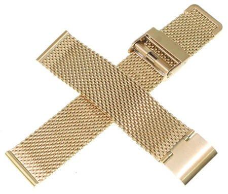 Bransoleta stalowa do zegarka 20 mm Tekla BG2.20 Gold