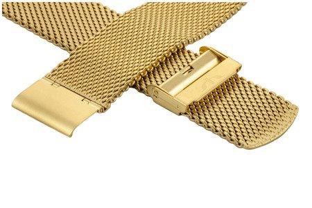 Bransoleta stalowa do zegarka 22 mm Bisset BM-102/22 Gold Mat