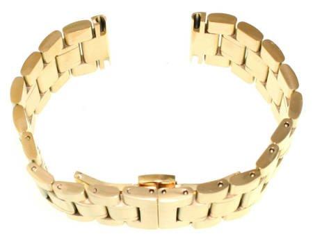 Bransoleta stalowa do zegarka 22 mm Tekla B3.22 Gold