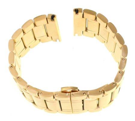 Bransoleta stalowa do zegarka 24 mm Tekla B3.24 Gold