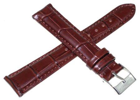 Brązowy skórzany pasek do zegarka Tekla 18 mm K20.18
