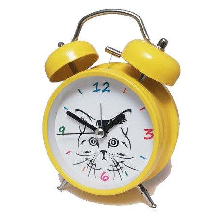 Budzik Atrix ATB045YE Bell Alarm Kotek