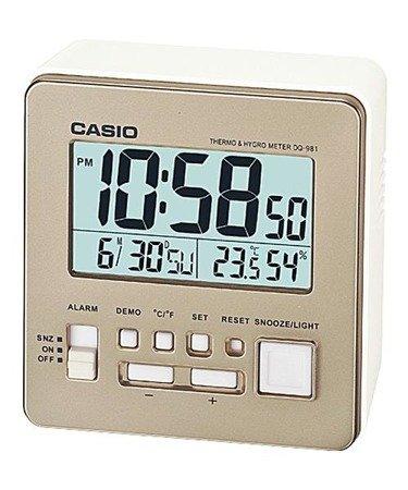 Budzik Casio DQ-981-9ER Termometr Higrometr