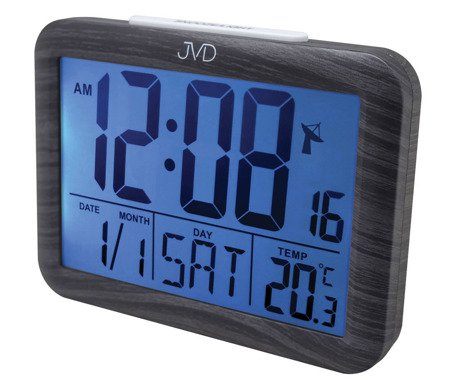 Budzik JVD RB27.2 Termometr DCF77 Dwa Alarmy