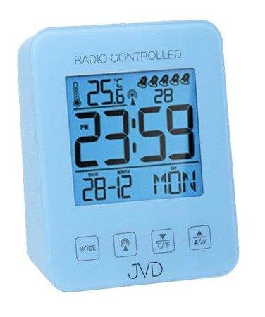 Budzik JVD RB38.3 Termometr, 5 alarmów, DCF77