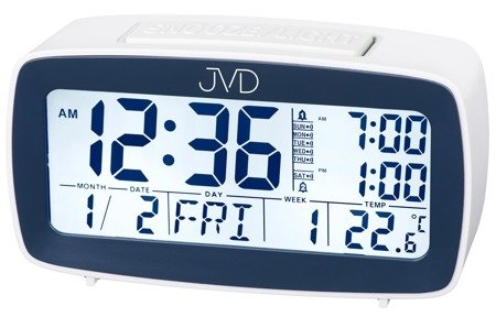 Budzik JVD SB82.2 Alarmy Termometr Sensor Light