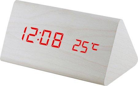 Budzik MPM C02.3570.00 red led, termometr, 3 alarmy