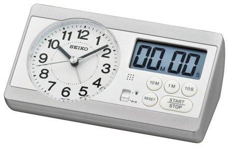 Budzik biurkowy SEIKO QHE152S Minutnik Stoper