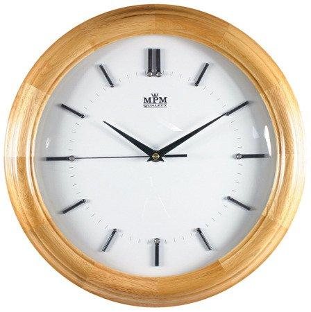 Drewniany zegar ścienny MPM E07.2828.53 Cyrkonie