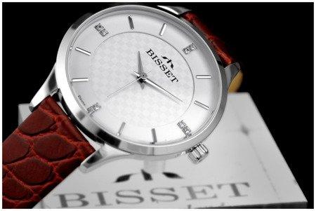 Damski zegarek BISSET BSAE58 SISR 03BX Cyrkonie