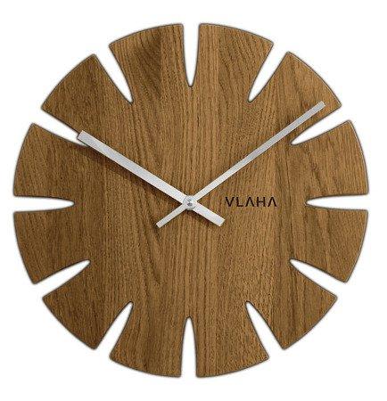 Drewniany dębowy ręcznie wykonany zegar ścienny VLAHA VCT1014