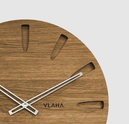Drewniany dębowy ręcznie wykonany zegar ścienny VLAHA VCT1021 45 cm