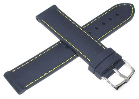 Silikonowy pasek do zegarka 20 mm Tekla S15.20