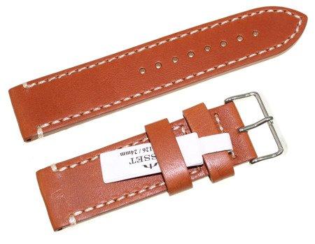 Skórzany pasek do zegarka 24 mm Bisset BS-126.24.24