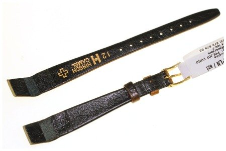Skórzany wodoodporny pasek do zegarka 12 mm HIRSCH 10200910-1-12OE
