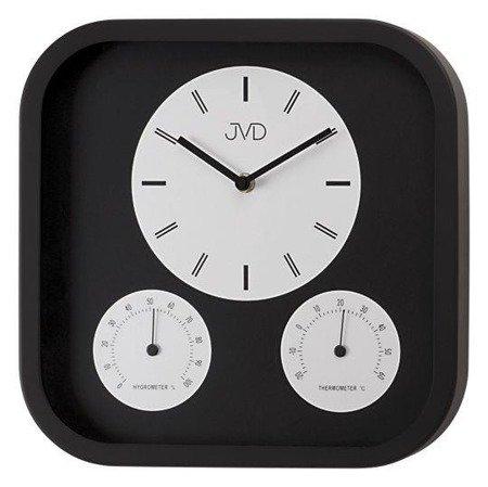 Zegar ścienny JVD H1525.1 Termometr Higrometr