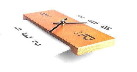 Zegar ścienny JVD N12004.41 Szkło Drewno