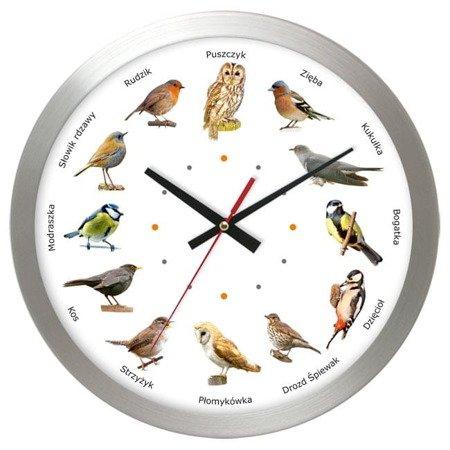 Zegar z głosami ptaków Atrix AL02PK3 SW 30 cm