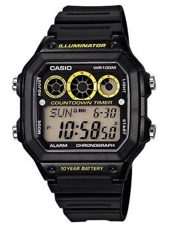 Zegarek Casio AE-1300WH-1AVEF Interval Timer
