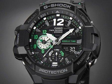 Zegarek Casio GA-1100-1A3ER G-Shock Kompas Termometr